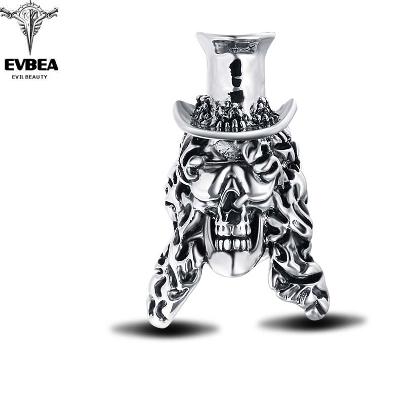 Hip Hop Rock Punk Top Cap Skull Adjustable Rotating Silver Plated Rings Bikers Motorcycle Men's & Boys' Party Jewelry(China (Mainland))