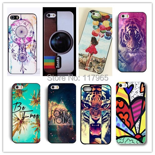 2015 HOT 22 Style new Hard PC cute lovely Animal Pattern Skin Case Cover Back for Apple iPhone5 5S high quality back Cases EC124(China (Mainland))