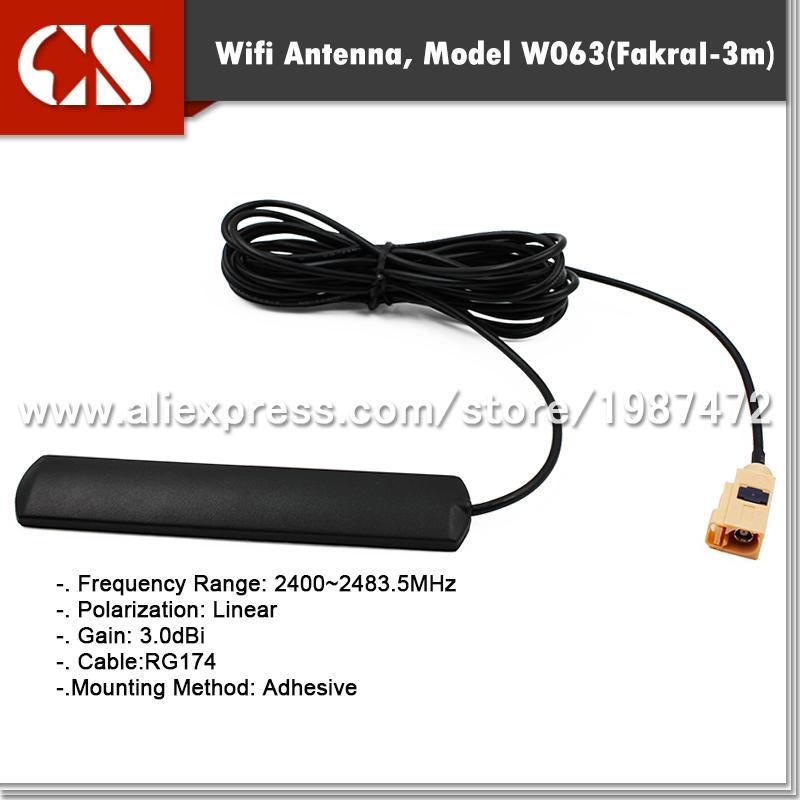 car wifi antenna,vehicle wifi antenna with Fakra I/3m cable(China (Mainland))