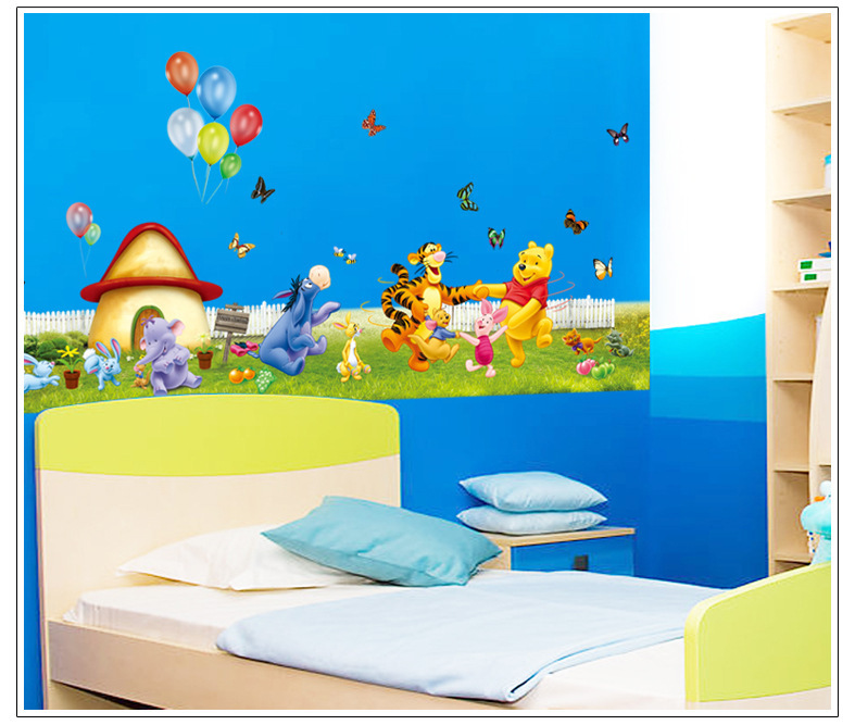 40 110cm winnie the pooh wall stickers for kids rooms for Winnie the pooh bedroom designs
