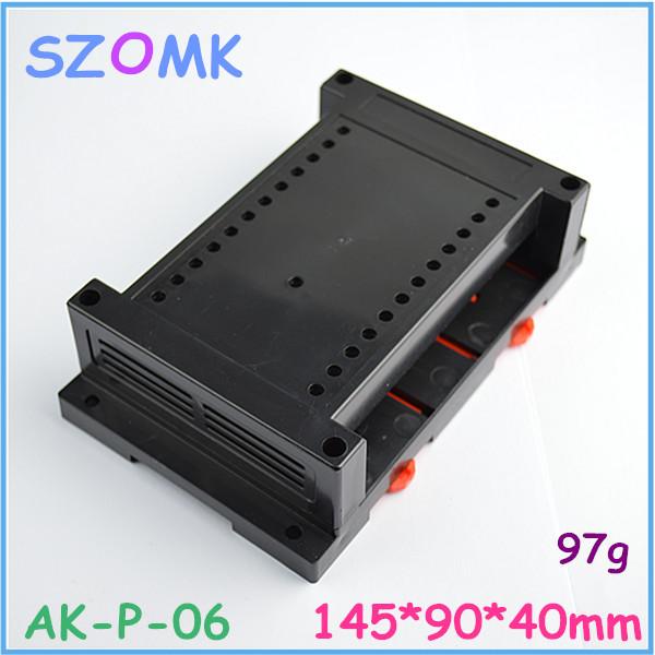 10pcs a lot Plastic industrial control enclosure /145*90*40mm Din rail enclosures box(China (Mainland))