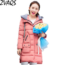 Buy Winter Jacket Women 2017 New Fashion Medium Long Cotton-padded Hooded Parka Female Wadded Coat Plus Size Slim Outerwear YM480 for $115.10 in AliExpress store