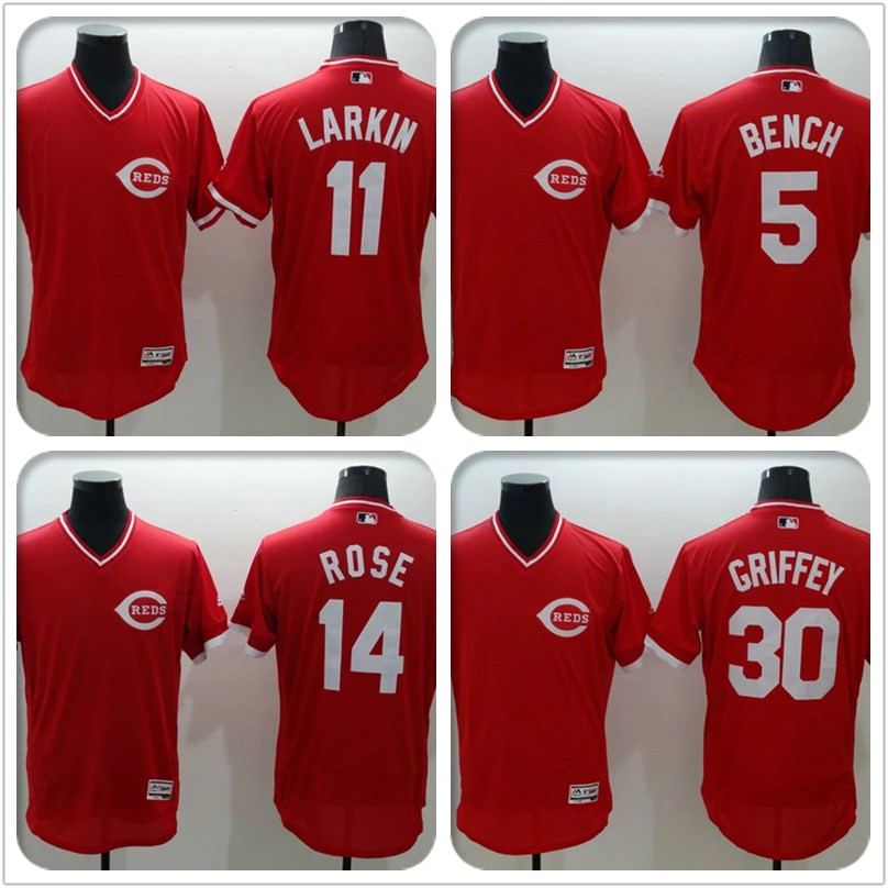 Cheap 2016 Mens #19 Joey votto #5 Johnny bench #14 Pete rose Embroidery Cincinnatis #30 #11 Baseball Jersey 100% stitched red(China (Mainland))