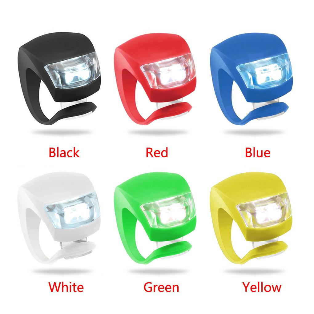 Гаджет  6 color Mini Brillant   Bike Light Bicycle Light Cycling Warning LED White Front Light + Red Rear Tail Lamp None Спорт и развлечения