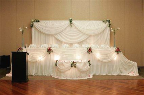 wedding backdrop curtain backdrop curtains with swag for