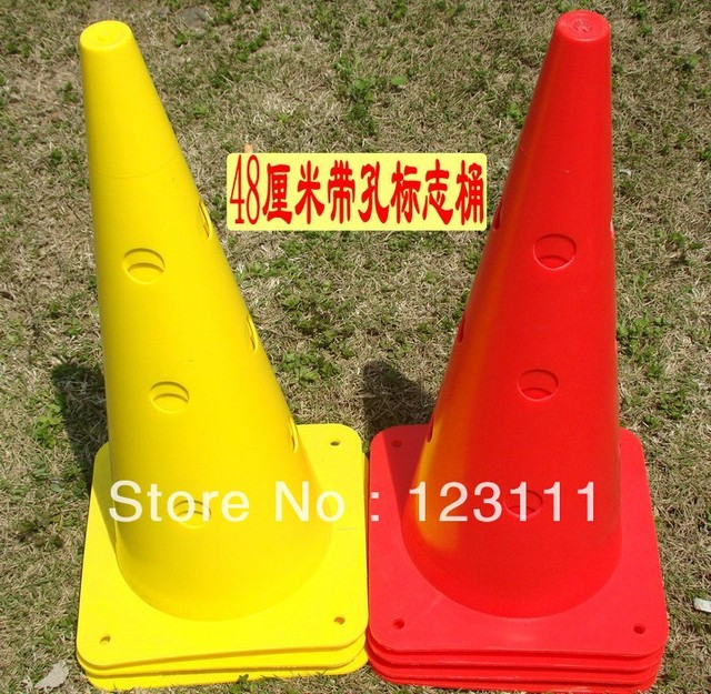 48cm Drilled Soccer Football Cross Dog Training Cones Track Sport Field Marking Speed basketball,baseball,skating,skateboard,BMX