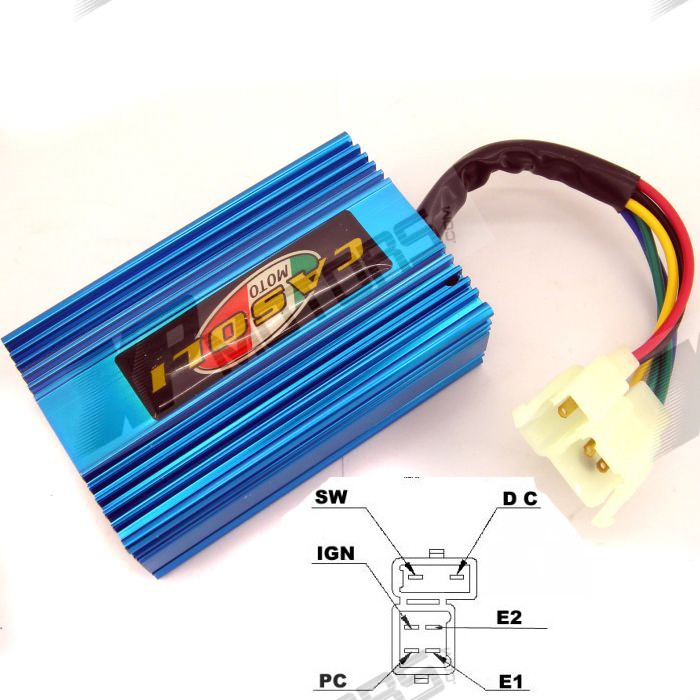 High Performance 6 PIN DC CDI Fit For 250cc Go Karts GY6 Scooter Moped(China (Mainland))