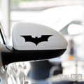 Individual car rearview mirror with cool logo stickers Batman black Lahua