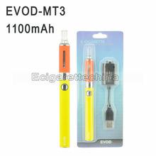 Electronic cigarette EVOD MT3 atomizer 1100mAh Variable Voltage battery Single Blister Starter Kit e cigarette free