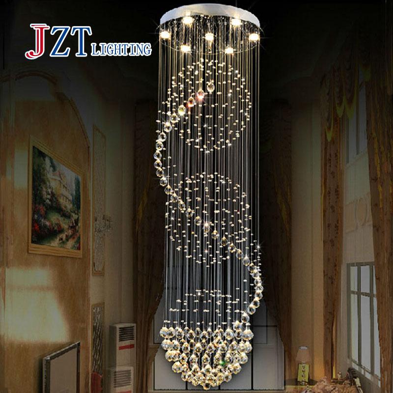Z Modern K9 Crystal Chandelier Crystal Lights Spiral Design Lamp for Living room droplight stair light led pendant lamp(China (Mainland))