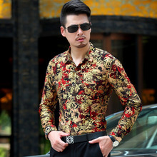 Buy 2017 Men Shirt Luxury Brand Long Sleeve Shirts Mens floral Casual Personalized Printing Slim Fit Dress Shirts Mens Hawaiian for $19.84 in AliExpress store