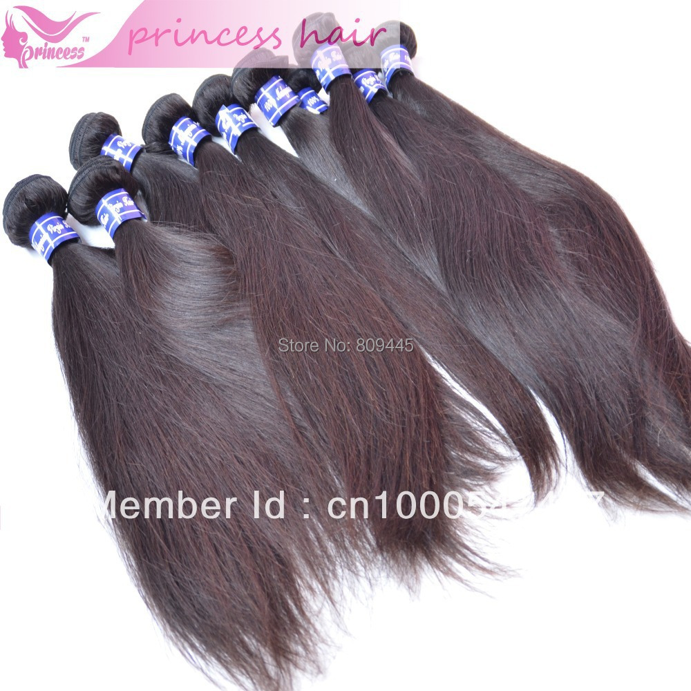 malaysian hair extension,double weft,straight weave, raw human hair,,1b,3pcslot,virgin - Princess products co.,LTD store
