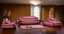 antique European leather sofa set living room sofa made in China sectional sofa 1+4+chaise(China (Mainland))