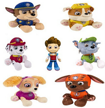 Hot Sale Puppy Paw Patrol Dogs 20CM Brinquedos Dolls Plush Toys Dog Stuffed Plush Animals Soft Toys Gift For Children Juguetes(China (Mainland))