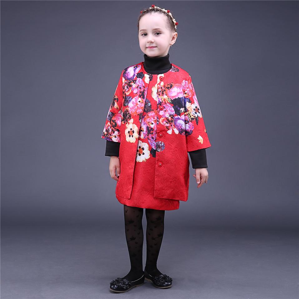 2016 New Pettigirl Flower Girl Dresses Christmas Children Wear Red Dress Everyday Wear Kids Clothes CS81009-4(China (Mainland))