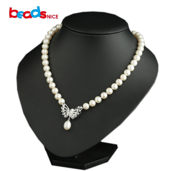 Beadsnice wholesale freshwater big pearl necklace for women silver statement necklace with silver 925 butterfly pendant ID29797<br><br>Aliexpress