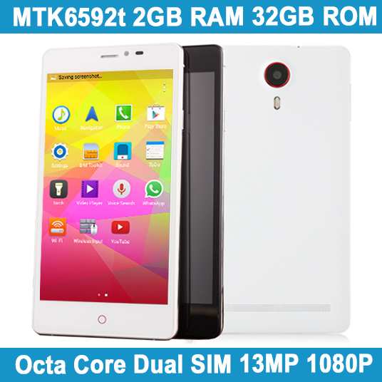 Hot Sale 5.5Inch Celulares Android Original Smartphone WCDMA MTK6592 Octa Core 2GB RAM 32GB ROM 1080P Dual SIM Cell Mobile Phone(China (Mainland))