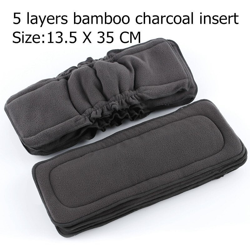 1PC Reusable 5 Layers Bamboo Charcoal Insert Baby Cloth Diaper Nappy Use,Wholesale Selling(China (Mainland))