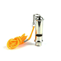 An EDC outdoor metal whistle referee coach with a rope around your neck rope ball Survival