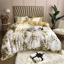 ropa de cama Tencel Silk 4Pcs KING QUEEN SIZE Bedding Set Luxury Duvet Cover Bed sheet Fitted sheet Bedclothes dekbedovertrek(China)