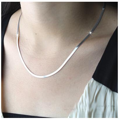 Wholesale 925 Sterling Silver Necklace Men Women Can Wear