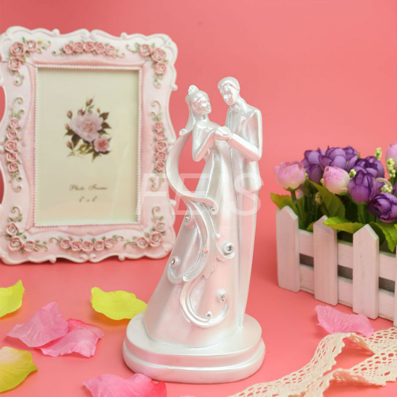 wholesale 7pcs lot 2015 romantic white wedding cake topper