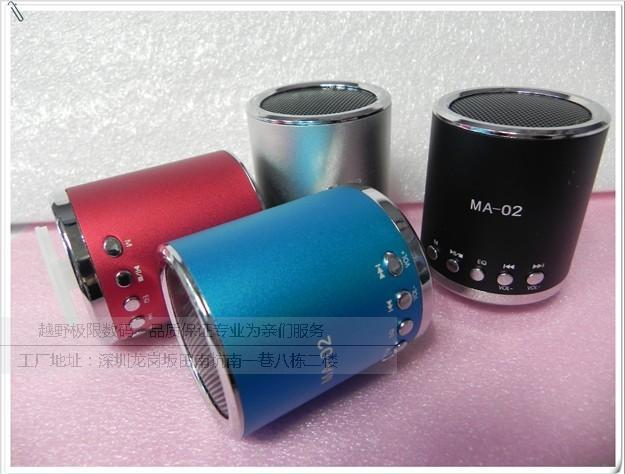 Cylindrical insert card speaker tf  usb flash drive speaker card mini speaker small speaker ma-02  free shipping