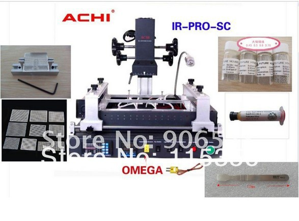 DHL Free shipping Offical Agent ACHI IR PRO SC V4 Welding BGA Rework Station with 5 in 1 reballing kit(China (Mainland))