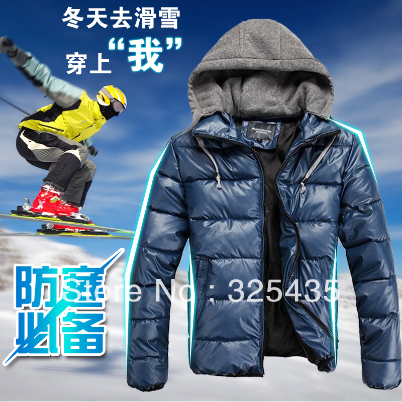 M5116 hot-selling male outerwear thermal wadded jacket removable cap zipper sports short design Coats & Jackets