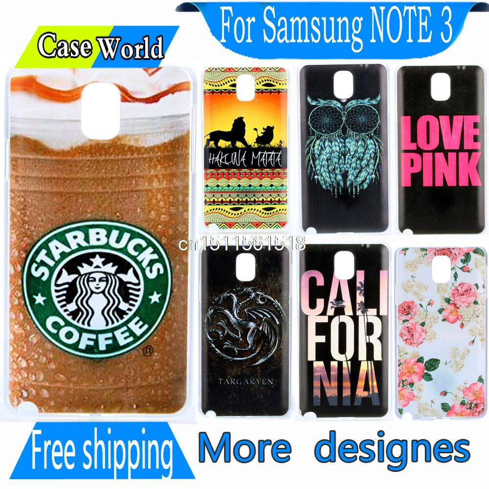 Cute Accessories Retro Design Cool Starbucks Ice Coffee New Hard back Phone Snap Cover Case for Samsung Galaxy Note III 3 N9005(China (Mainland))