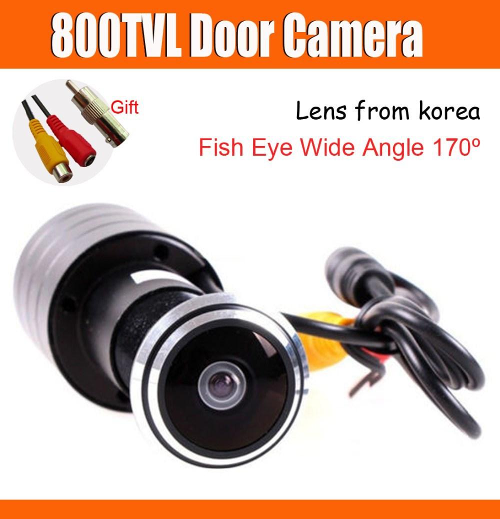 """Рыбий глаз 800tvl дверь камеры peehole безопасности камеры av + dc, av для bnc штекер как подарок 170 широкоугольный объектив """"рыбий глаз"""""""