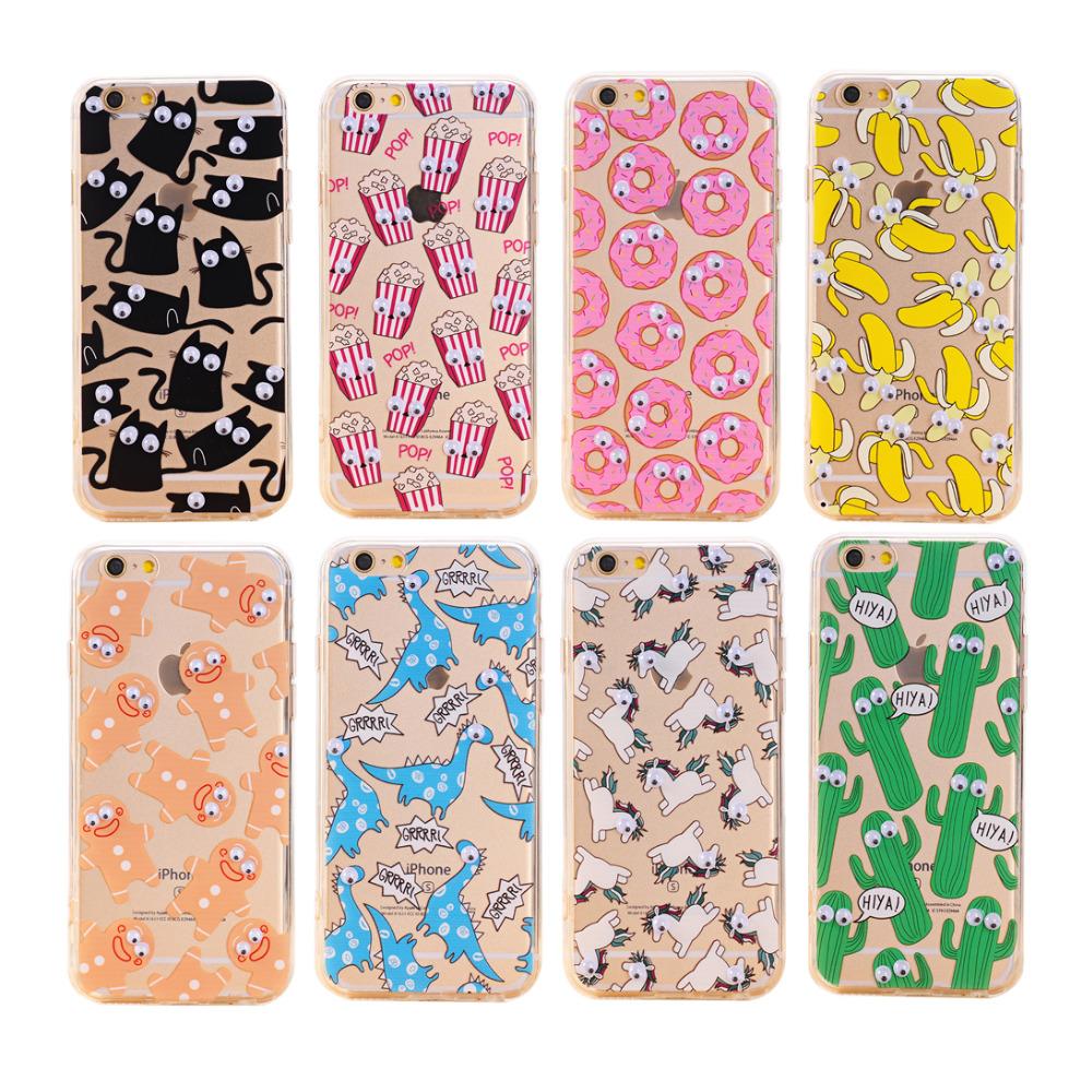 2016 Fashion 3D Eye Phone Capa Para Fundas Cover Case For Apple iPhone 4 4S 5 5S 5SE 6 6S Plus Silicone Soft TPU Sleeve Shell(China (Mainland))