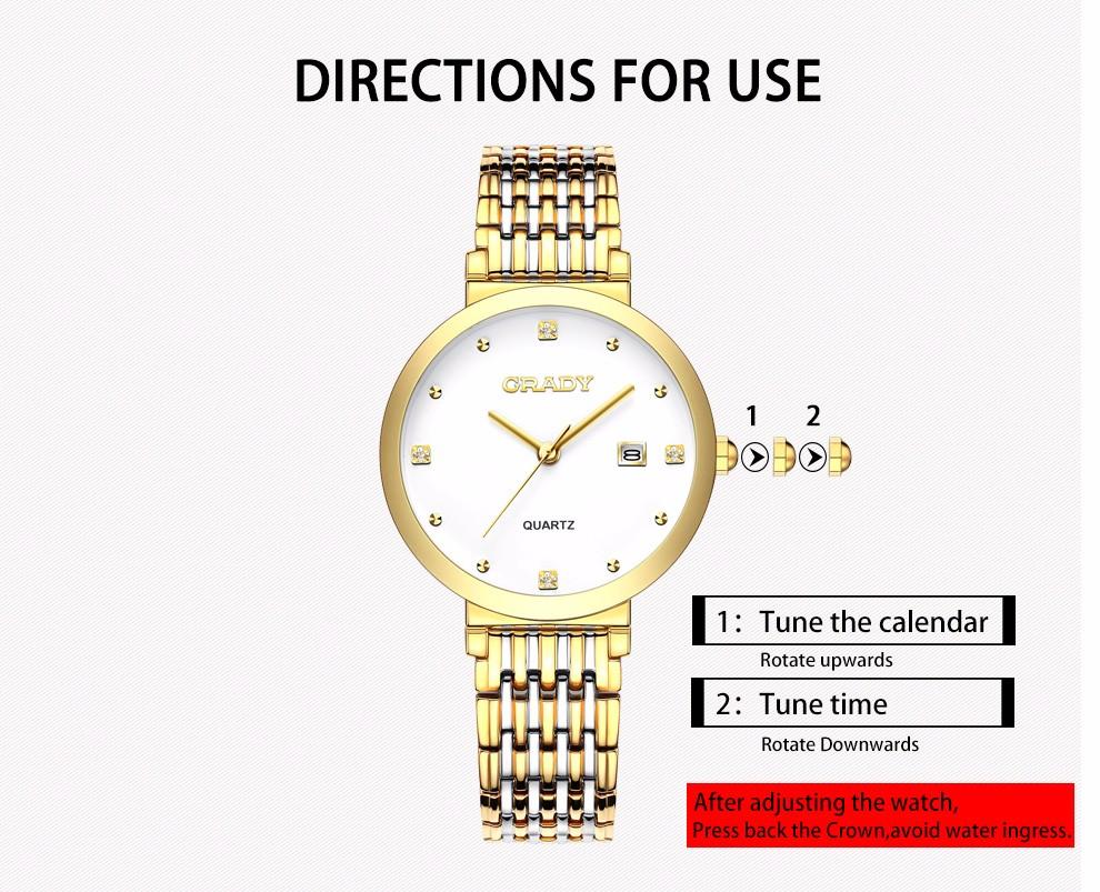 Новая женщина часы 2016 люксовый бренд золотые часы vogue черные часы для дамы водонепроницаемый кварцевые наручные часы для женщин