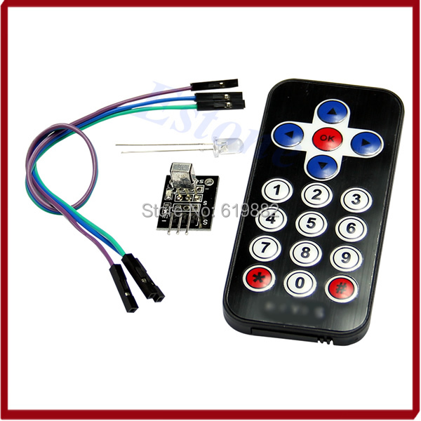 A31 Hot Selling New Infrared IR Wireless Remote Control Module Kits For Arduino Wholesale(China (Mainland))