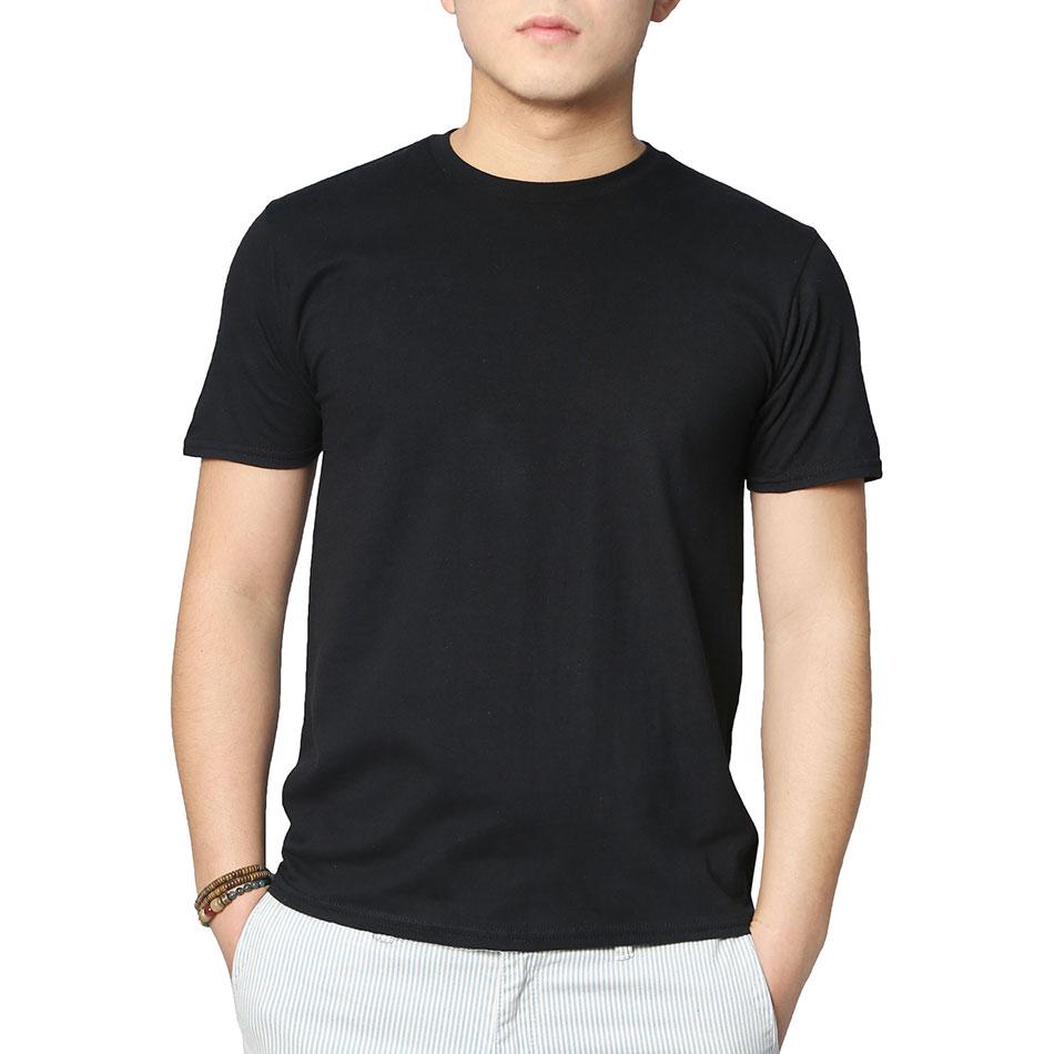 Plain black t shirt style - Men Casual Black T Shirts Male Plain O Neck Skinny T Shirt Basic Classic Tops Cotton Lycra Fabric Home Wear