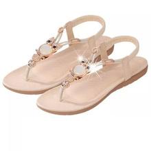 Bohemia Diamond Shoes Flat Open Toe Shoes Dichotomanthes Women Shoes Beach Student Pregnant Women Sandals