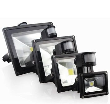 Outdoor floodlight 10w 20w 30w 50w led flood light pir for Focos led exterior 50w
