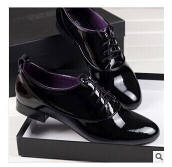 2014 platform shoes patent genuine leather shoes