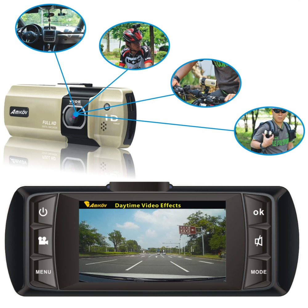 Car DVR 3 Colors Amkov Tachograph HD Camcorder Sport Driving Motion Video Camera 1080P 2 7