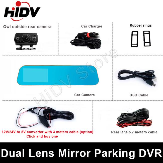 Dvr 2015 с двумя объективами парковка автомобилей видеорегистраторы 4.3