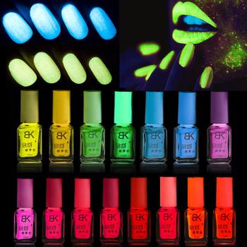 Номера - токсичных люминесцентная неон световой гель масло для ногтей светящиеся в темноте ногтей лака лак эмаль конфеты 20 цветов для выбора