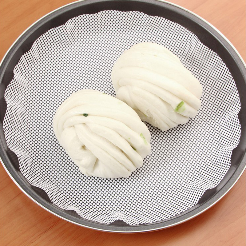 25cm New Arrival Round Silicone Eco-friendly Steamer Pad Steamed Stuffed Bun Bread Pad Household Steamer Steamed Dumplings Mat(China (Mainland))