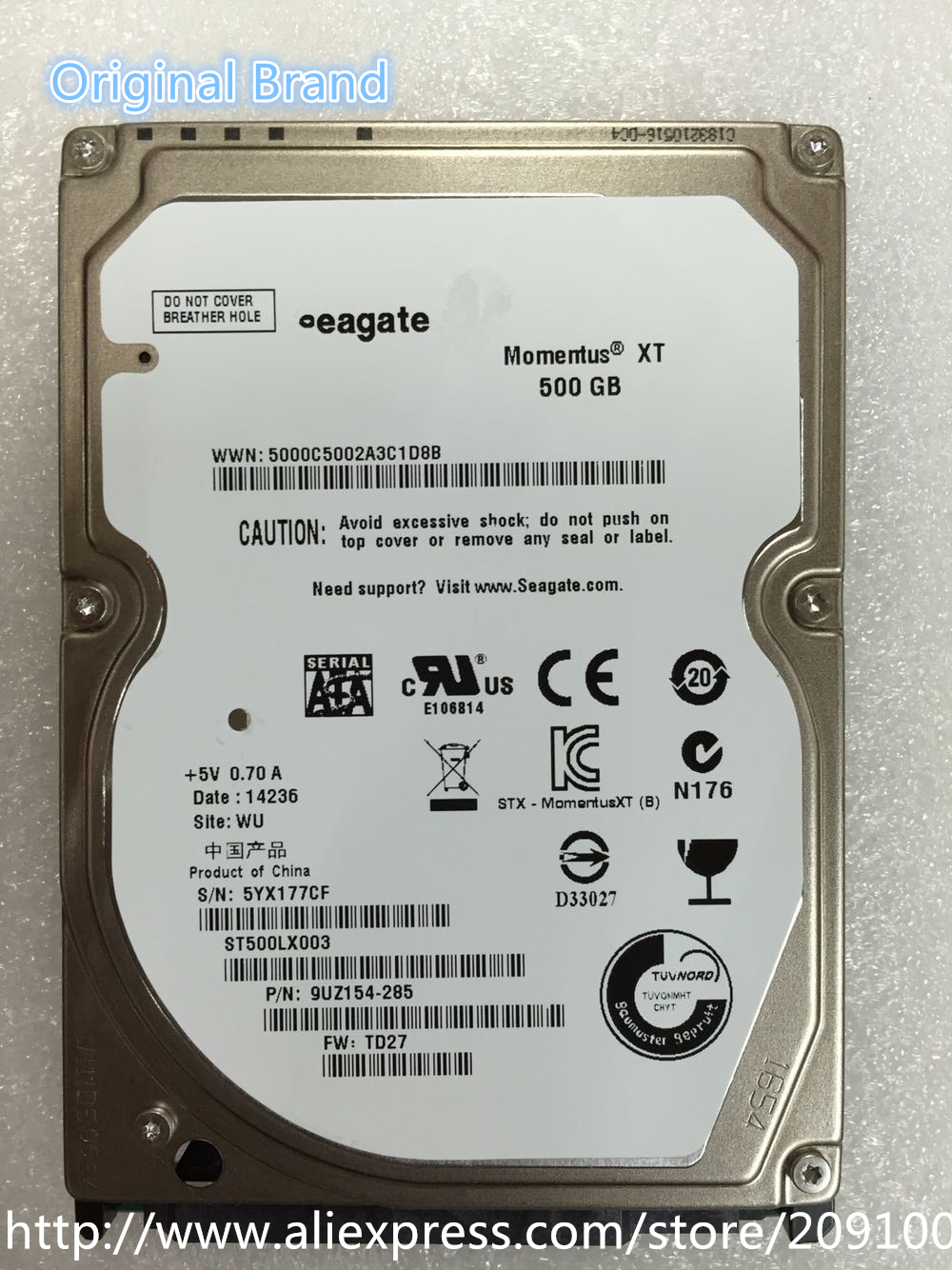 SHDD ST500LX003 Momentus 500GB 7200rpm 32mb Hard Drive For Computers Free Shipping(China (Mainland))