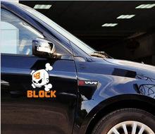 Personalized Kenblock skull logo Car Stickers Styling Decal Toyota Ford VW Hyundai Kia Lada Cruze Focus Mazda Skoda - SKY'S AUTO-YIWANG store