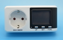 EU Plug Power Watt Volt Amp Energy Meter Multifunction High accuracy with Power Factor and CO2 dispaly