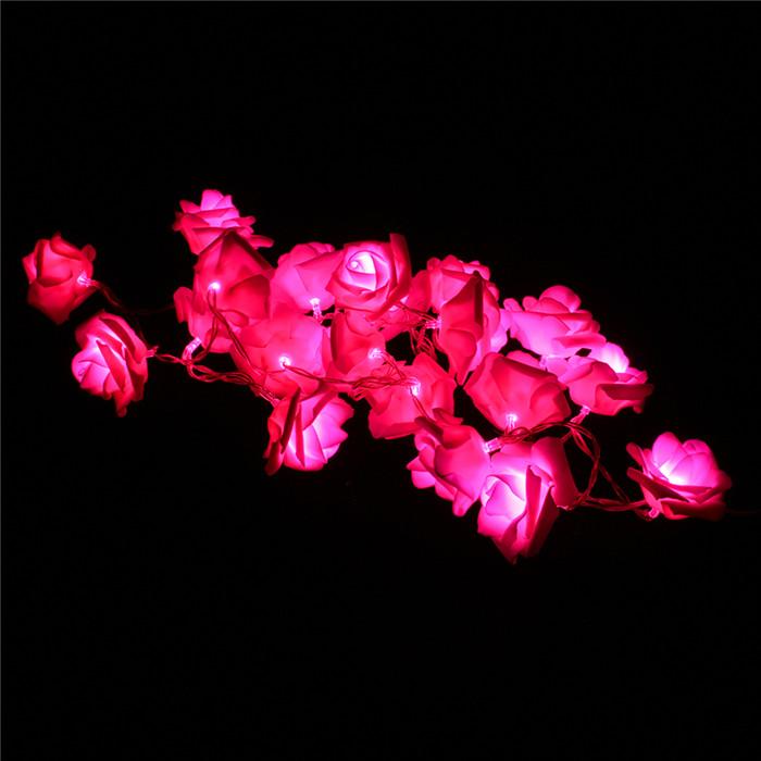Гаджет  Fairy 20 LED Rose Flower String Lights For Wedding Garden Party Christmas Decoration None Свет и освещение