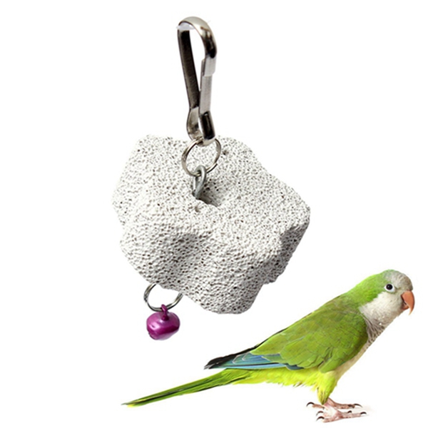Wholesale Best price Parrot Mouth Grinding Blah Stone Bird Toy Molar Stone Cage Toys Parakeet Cockatiel Budgie Products(China (Mainland))