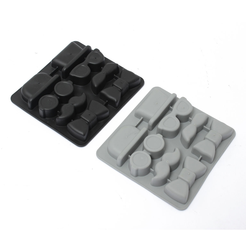Hot Selling Ice Cube Tray Mold Beard Glasses Hat Tie Gentleman Glasses Freeze Mould Maker Excellent Quality(China (Mainland))