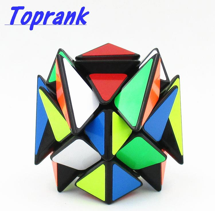 Toprank 2016 New YJ Moyu Crazy Fisher Cube 57mm Speed 3x3x3 Magic Cube Educational Twist Puzzle Cube Toy(China (Mainland))
