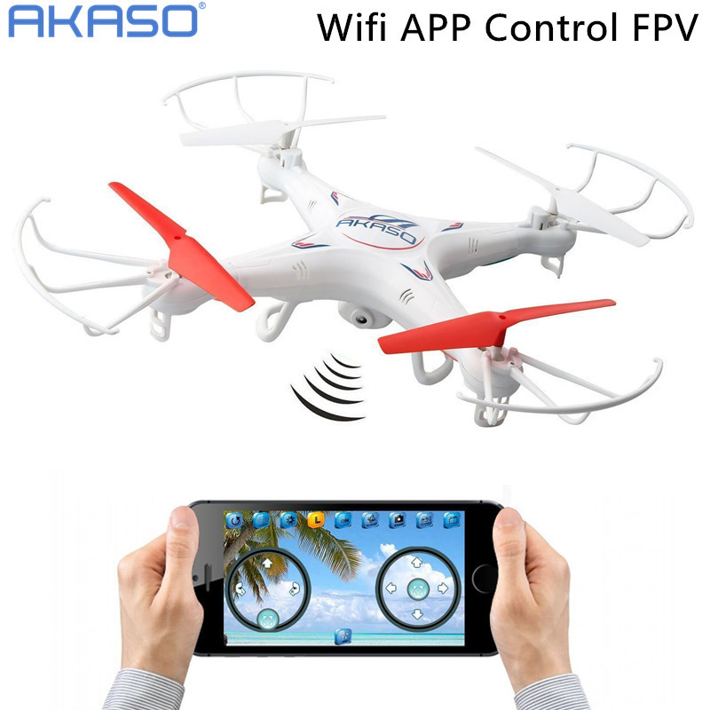 AKASO X5KW FPV Wifi APP Control 4CH 6 Axis RC Quadcopter Drone with HD Camera & LED Lights , 360-degree Rolling Mode(China (Mainland))